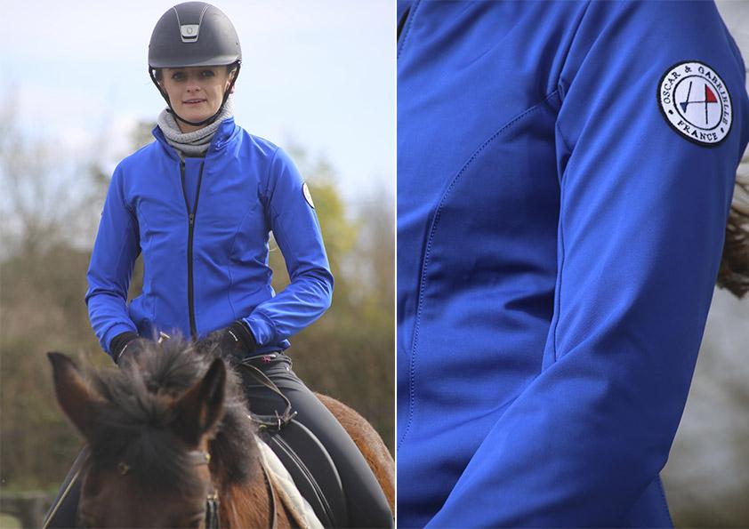 Veste equitation bordeaux