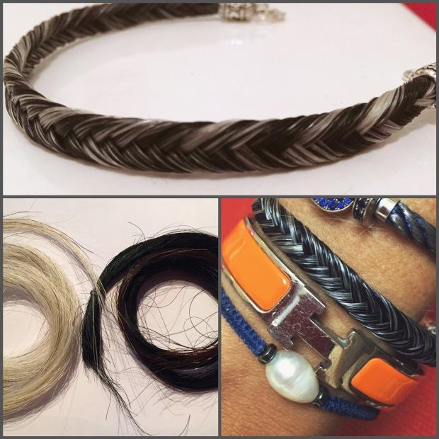 bracelet en crins de cheval